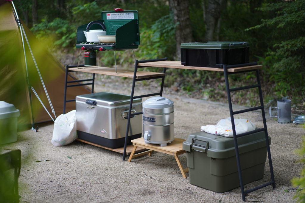 Camping scenery