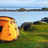 tent and sea