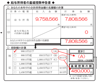 kisokoujo shinkokusyo entry example