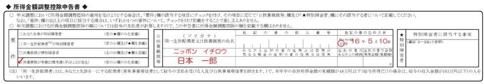 syotokukingaku entry example